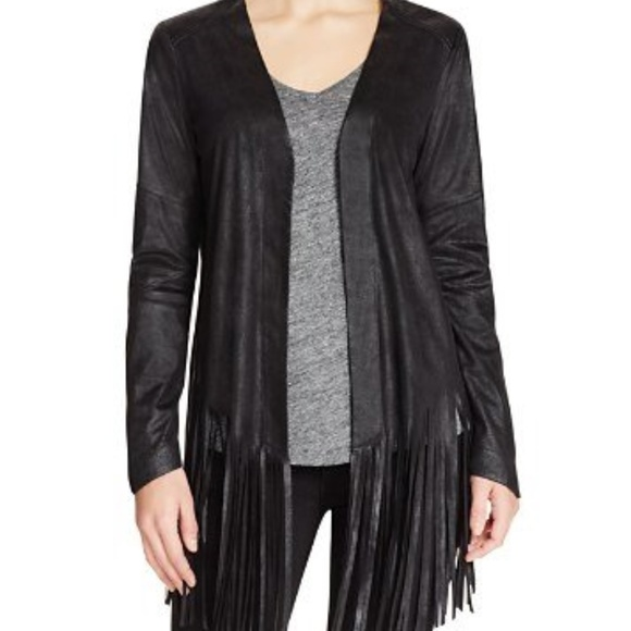 Dylan Gray Jackets & Blazers - Dylan Gray Faux Suede Fringe Jacket